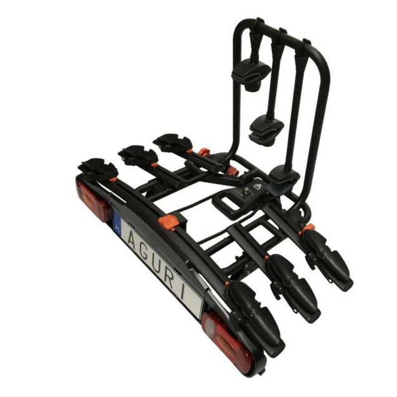Bagażnik na hak Aguri Active Bike Black 3 rowery
