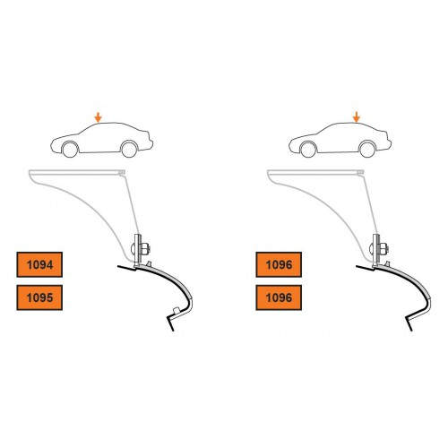 Rysunek poglądowy z instrukcji montażu. KIT Cruz 935-073 VW Golf V-VI 3/5dr 2003-2012