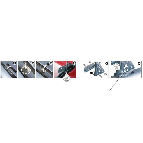 Rysunek poglądowy z instrukcji montażu. KIT Cruz 935-075 Ford Focus 05-11/ C-Max 03-10