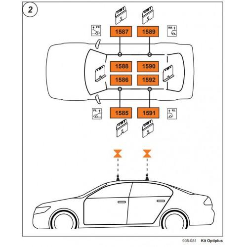 Rysunek poglądowy z instrukcji montażu. KIT Cruz 935-081 Citroen C6-C5/ Peugeot 207/308/407