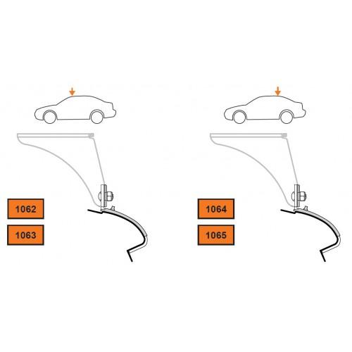 Rysunek poglądowy z instrukcji montażu. KIT Cruz 935-412 BMW 5 E60 sedan 4dr 2003-2010