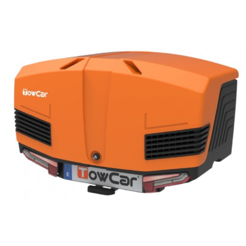 Box bagażowy na hak TowBox V3 Led Edition pomarańczowy